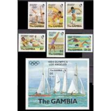 1984 Gambia Mi.500+505+506/B8 1984 Olympiad Los Angeles 9,40 €