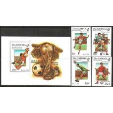 1986 Gambia Mi.621-624+625/B23 1986 World championship on football of Mexico 29,00 €