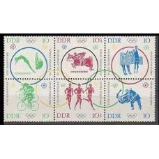 1964 Germany, East(DDR) Mi.1039-1044VB 1964 Olympiad Tokio 26.00 €