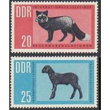 1963 Germany, East(DDR) Mi.945-946 Fauna 2.00 €