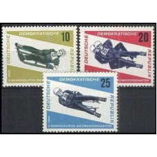 1966 Germany, East(DDR) Mi.1156-1158 Wintersport 1,80 €