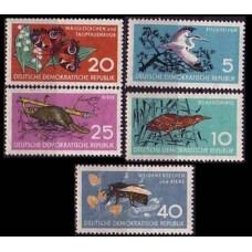 1959 Germany, East(DDR) Mi.688-692 Fauna 8,50 €