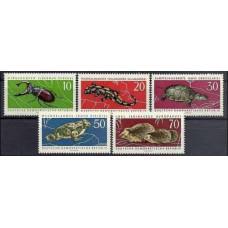 1963 Germany, East(DDR) Mi.978-982 Fauna 5,00 €