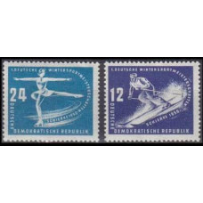 1950 Germany, East(DDR) Mi.246-247 Wintersport 18,00 €