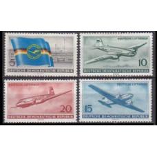 1956 Germany, East(DDR) Mi.512-515 * Planes 20,00 €