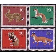 1967 Germany, West Mi.529-532 Fauna 2.40