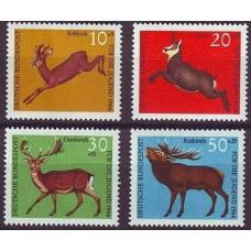 1966 Germany, West Mi.511-514 Fauna 1.50 €