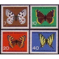 1962 Germany, West Mi.376-379 Butterflies 3.50