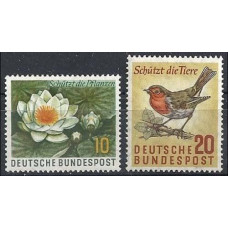 1957 Germany, West Mi.274-275 Nature protection day 1,40 €