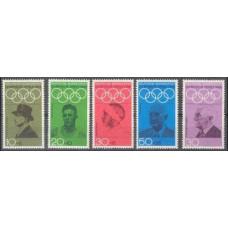 1968 Germany, West Mi.561-565 1968 Olympiad Mexiko 3,00 €