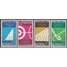 1969 Germany, West Michel 587-590 1972 Olympiad Munhen 3.00 €