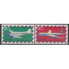 1969 Germany, West Mi.576-577 Planes 1,30 €