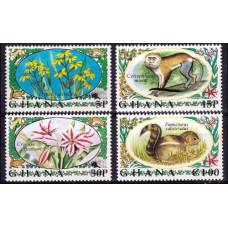 1972 Ghana Mi.468-471 Fauna and flora 17.00 €