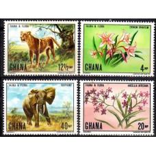 1970 Ghana Mi413-416 Fauna and flora 17.00 €
