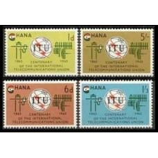 1965 Ghana Mi.210-213 ITU 6,50 €