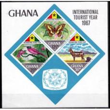 1967 Ghana Mi.327-329/B29b Fauna 34,00 €