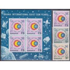 1964 Ghana Mi.170+172+B9b Satellite 3,50