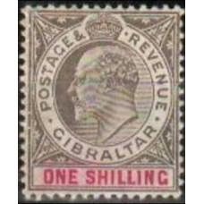 1904 Gibraltar Michel 52* Edward VII 60.00 €