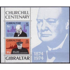 1974 Gibraltar Mi.319-20/B1 Churchill 6,00 €