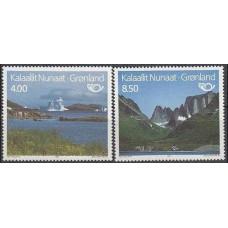 1995 Greenland Mi.260-261 Landscape 4,50