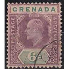 1904 Grenada Mi.56used w-6 Edward VII 12.00 €