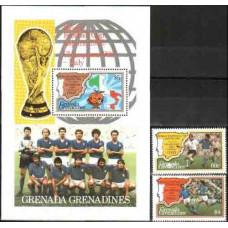 1982 Grenadines (Grenada) Michel 526-527+528/B69 1982 World championship on football of Spanien 8.50 €
