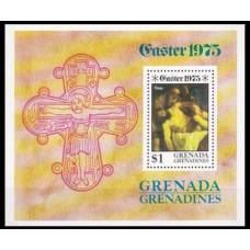 1975 Grenada - Grenadines Mi.78/B9 Michelangelo Buonaroli 1,20