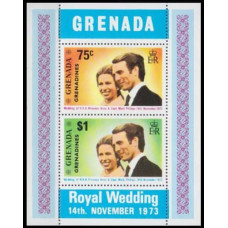 1973 Grenada - Grenadines Mi.3-4/B1 Prins William 1,50 €