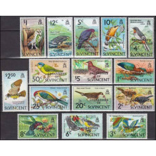 1974 Grenadines (St V) Mi.3--17 Overprint, = St Vincent 1970 Birds 15,00 €