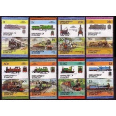1984 Grenadines (St V) Mi.324-339Paar Locomotives 8,00 €
