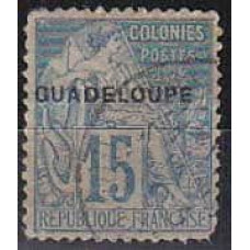 1891 Guadeloupe Michel 17 used 6.50 €