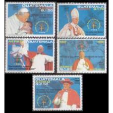 1996 Guatemala Mi.1345-1349 Paul II 5,00 €