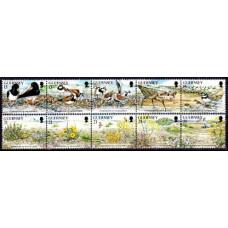 1991 Guernsey Mi.527-536strip Nature conservation 7.50 €