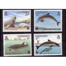 1990 Guernsey Mi.497-500 WWF / Sea fauna 6.00 €