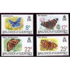 1981 Guernsey Mi.218-221 Butterflies 2,50 €