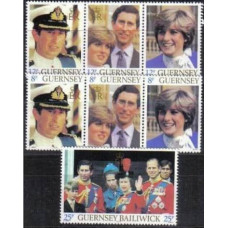 1981 Guernsey Michel 225-231 Charls and Diana 8.00 €