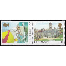 1987 Guernsey Mi.A-B392Paar Ships with sails 1,60 €