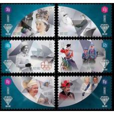 2012 Guernsey Mi.1368-1373 2012 Olympiad London 7,50