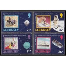 1991 Guernsey Mi.518-521 Sputnik-1 3,60