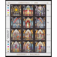1993 Guernsey Mi.622-633KL Stained glass 5,50 €
