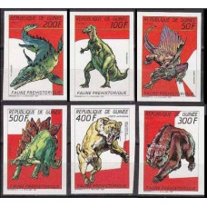 1987 Guinea Mi.1166-1171b Dinosaurs 65.00 €