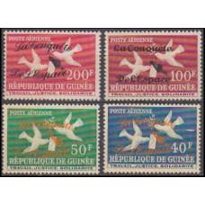1962 Guinea Mi.145-146.148 II+147 I Overprint -Conquest Of Space#26-29 17,40 €
