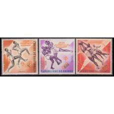 1963 Guinea Mi.211-213a Overprint - Olympiad Kam. #164-166 orang 7,50 €