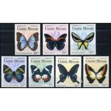 1984 Guinea-Bissau Mi.811-817 Butterflies 9,00 €