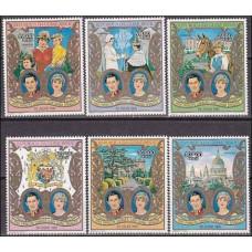 1981 Guinea-Bissau Michel 588-593 Diana 13.00 €