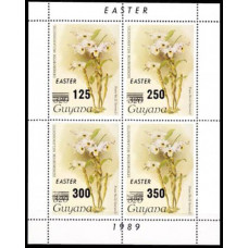 1989 Guyana Mi.2511-2514KL Flowers 3,00 €