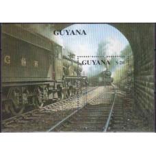 1990 Guyana Mi.3176/B93 Locomotives 15,00 €