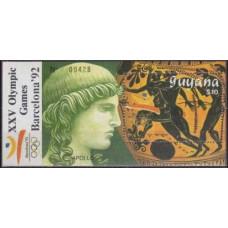 1989 Guyana Mi.3070/B63 1992 Olympiad Barselona 20,00
