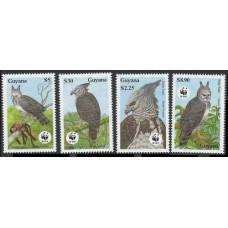 1990 Guyana Mi.3077-3080 WWF, Harpy Eagle 8,50 €