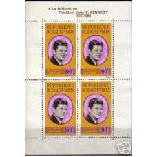 1964 Haute-Volta Michel 155/B2 J.F.Kennedy13.00 €